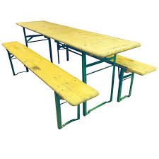 german beer garden table and bench 1940s authentic vintage german beer garden table and bench set
