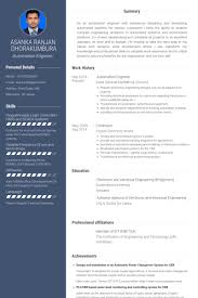 Electrical Engineer Resume Templates Automation Engineer Resume Samples Visualcv Resume Samples Database