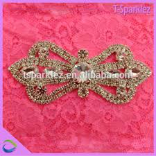 embroidery design small crystal beaded bow applique for u0027s