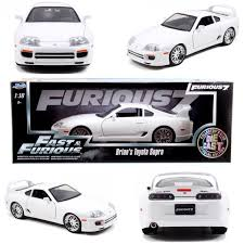 toyota white car fast u0026 furious u2013 brian u0027s toyota supra u2013 white mini car collectibles