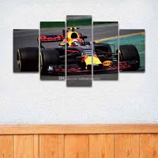 2017 5 panel printed sports formula race car painting on canvas