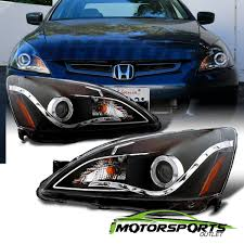 2004 honda accord headlights for 2003 2004 2005 2006 2007 honda accord black led halo projector