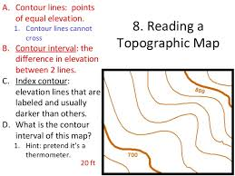 how to read topographic maps weathering erosion and topography