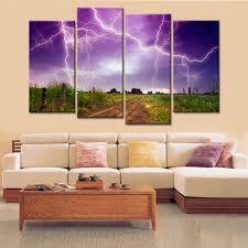 Wall Art Paintings For Living Room Online Get Cheap Lightning Wall Art Aliexpress Com Alibaba Group