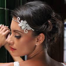 headband across forehead ivory and co headband bridal accessories