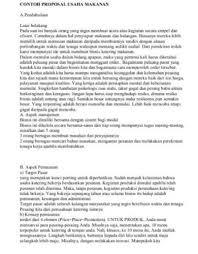 cara membuat proposal ide 25 contoh proposal usaha bisnis yang baik dan benar lengkap doc