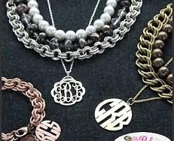 Monogramed Jewelry Embellishhome Jewelry