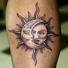 collection of 25 sun and moon on skin