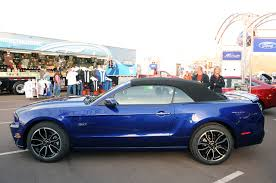 photo gallery 2013 ford mustang convertible in deep impact blue
