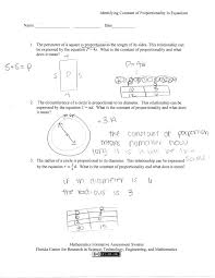 identifying constant of proportionality in equations students are