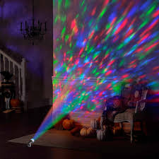 halloween light decoration ideas gemmy lightshow spot light kaleidoscope red green blue walmart com