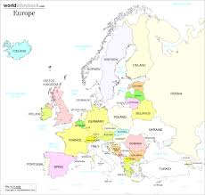 Map Of The Usa With Capitals by Map Of Europe Reveals The Countries With Highest Levels Entrancing