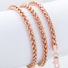 gold necklace chains wholesale images Personalize size 4mm mens womens chain necklace wheat spiga chain jpg