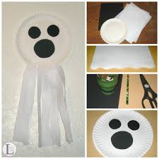 paper plate ghost halloween craft life as leels