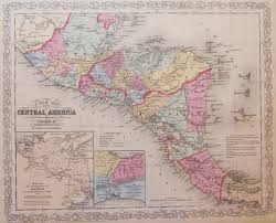 America Central Map by Antique Maps Of Central America