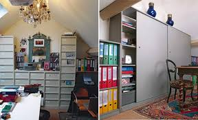 bureau placard diy un placard de bureau à portes coulissantes