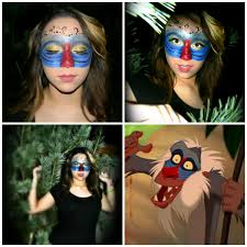 rafiki makeup disney lion king glitter face paint love