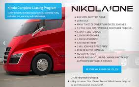electric semi truck nikola one u201d first ever 2000 horsepower hp electric class 8 semi