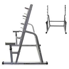 Squat Bench Rack For Sale 5 Welded Bar Safety Squat Rack W Bench Combo Walmart Com