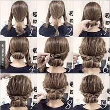 Hochsteckfrisuren Mittellange Haare Einfach by Easy Hairstyle Haare Frisur Haar Und Haar Ideen