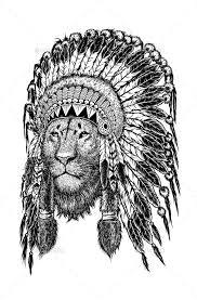 indian headdress tattoo on ribs lion wearing indian headdress lions tattoo and tatting