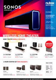nubox sonos home theatre 3 1 system 5 1 play pc show 2015 price
