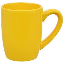 bulk yellow stoneware mugs 12 oz at dollartree