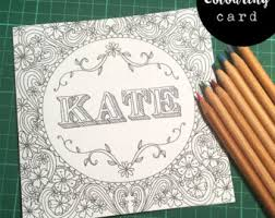 doodle name kate coloring cards printable note cards blank notecards