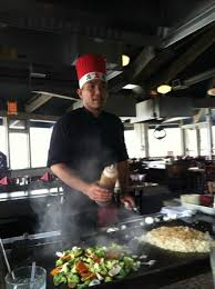 japanese restaurant cook at table the chef that did the cooking show at our table picture of