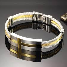 stainless steel mens bangle bracelet images Bracelet bangle stainless steel rope bracelet charm gold bangle jpg
