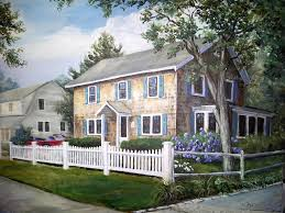 cap code house cape cod house painting painting by karla beatty