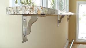how to attach a countertop to a wall without cabinets countertop application types installation federal brace