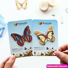 2 pc colorful butterfly sticky memo notes mykawaiicrate