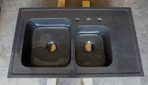 custom basin drop in kitchen sink black granite forest
