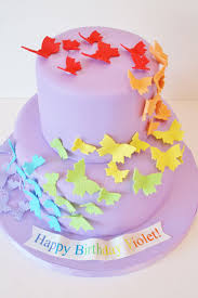 birthday cakes nyc rainbow butterfly custom cakes grace