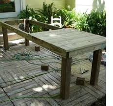 Outdoor Furniture Table by Diy Outdoor Farmhouse Patio Table Woodworking Backyard And Patios