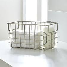 bathroom baskets crate and barrel