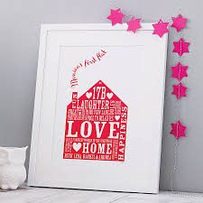 personalised family home christmas gift print by allihopa