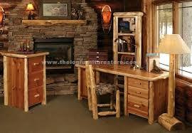 Computer Desk Houston Rustic Desk Furniture Timberline Cedar Log Computer Desk Rustic