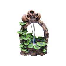 Fountains For Home Decor Alpine Stone Fountains Outdoor Decor The Home Depot