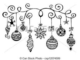 stock illustration of ornaments sketch
