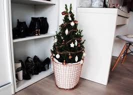 interior rose gold christmas tree lily like