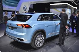 volkswagen suv 3 rows vw u0027s new cross coupe gte rolls into detroit