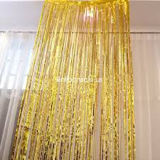 where to buy gold foil gold foil fringed door curtain for party decoration 3ft x 8ft