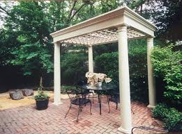 garden pergola with coffered trellis ceiling plans only