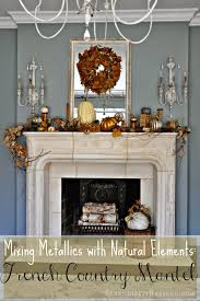 serendipity refined blog french country fall mantel neutrals