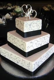 square wedding cakes wedding cakes square 3 tier wedding image idea just another