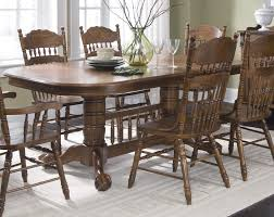 various oak dining room table and chair sets to satisfy any taste