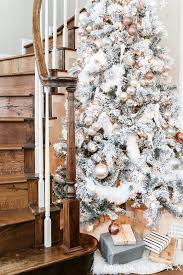 blush flocked christmas tree maison de pax