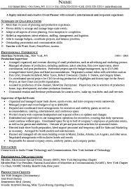 event planner resume event planner resume objective exles gallery exle